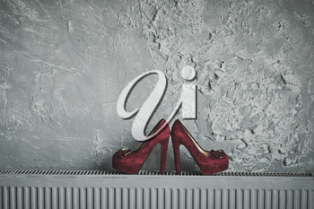Object shooting shoes.