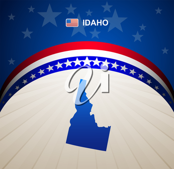 Idaho map vector background