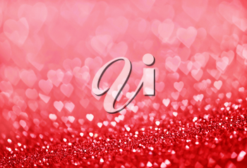 heart bokeh, colored bokeh, christmas and valentinas day background