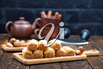 turkey desert with grated nuts and honey
