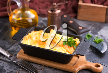 baked cauliflower with egg and cheese