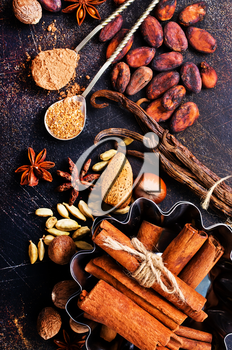 aroma spice on a table,stock photo