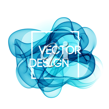 Vector Abstract color curved lines background. Template brochure design