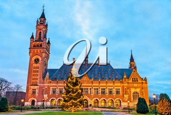 The Peace Palace, the seat of the International Court of Justice. The Hague in the Netherlands