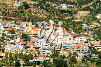 Mar Saba Cathedral and Our Lady of Diman Church in Bsharri - the Kadisha Valley, Lebanon