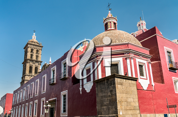 The Cathedral of Puebla in Mexico, Latin America