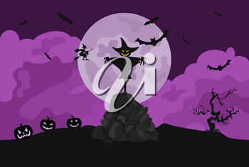 Halloween holiday info graphic elements. Flat design. Vector illustration