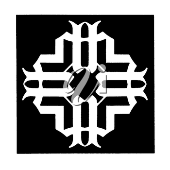 Royalty Free Clipart Image of an Abstract Design on Black
