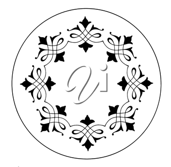 Royalty Free Clipart Image of a Frame Inside a Round Circle