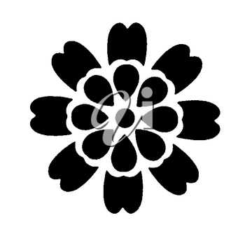 Royalty Free Clipart Image of a Flower Within a Flower