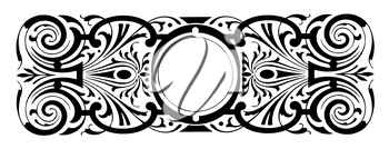 Royalty Free Clipart Image of a Round Frame