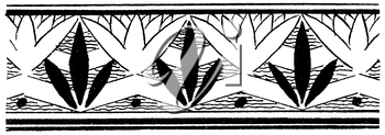 Royalty Free Clipart Image of a Border With a Repeating Leaf Pattern