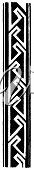 Royalty Free Clipart Image of a Vertical Border