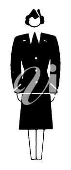 Royalty Free Clipart Image of a Flight Attendant