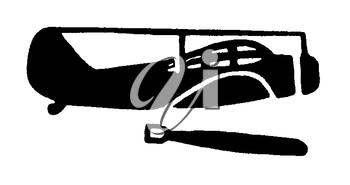 Royalty Free Clipart Image of a Bomber