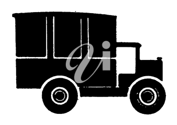 Royalty Free Clipart Image of an Antique Automobile