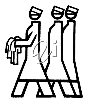 Royalty Free Clipart Image of Nurses