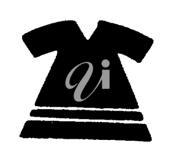 Royalty Free Clipart Image of a Child's Dress