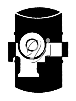 Royalty Free Clipart Image of a Barrel