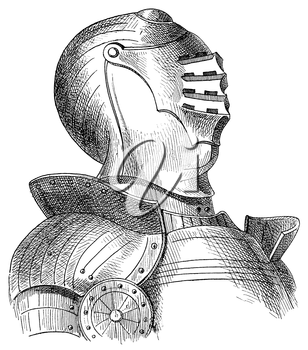 Royalty Free Clipart Image of a Suit of Armour
