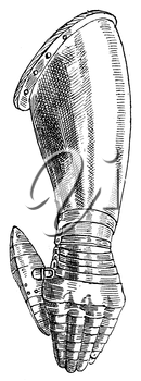 Royalty Free Clipart Image of a Left Gauntlet