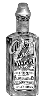 Royalty Free Photo of a Bottle of  Vinolia Lavender Water Cologne