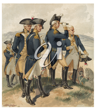 Royalty Free Clipart Image of an Army