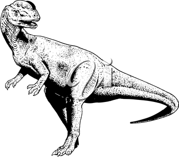 Royalty Free Clipart Image of a Dinosaur