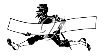 Royalty Free Clipart Image of a Man Running