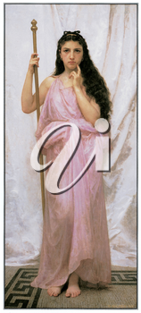 Royalty Free Clipart Image of Young Priestess by Adolphe William Bouguereau