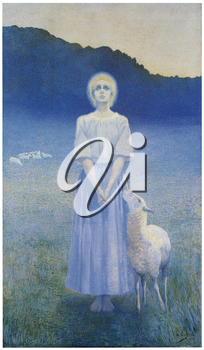 Royalty Free Clipart Image of Vision by Alphonse Osbert