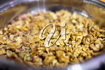 Refined roasted nuts background hd
