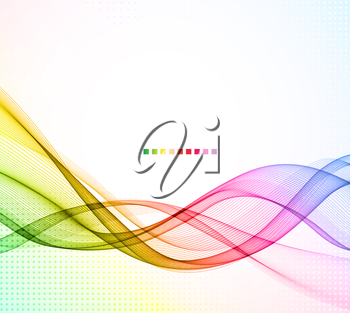Abstract colorful vector template waved background. EPS10