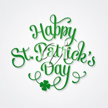 Vector illustration Typographic Saint Patrick's Day Card