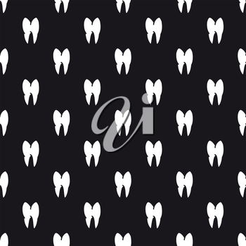 Black and white seamless pattern with teeth. Vector illustration
