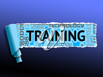 Training Words Indicating Webinar Lessons And Skills