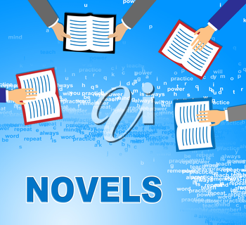 Novels Books Indicating Story Telling And Fiction
