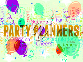 Party Planners Representing Plans Planning And Celebrations