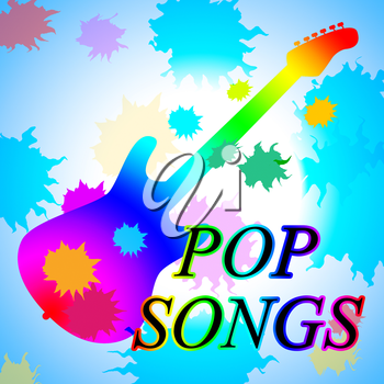 Pop Songs Showing Sound Track And Melodies