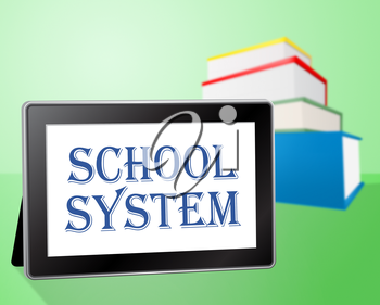 School System Representing Books Educated And Book
