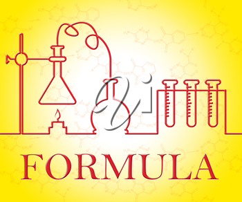 Chemical Formula Representing Chemicals Researching And Experiments