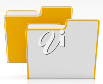 Files Showing Organising Documents Filing And Paperwork