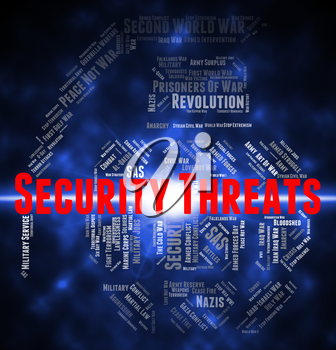 Security Threats Showing Intimidating Remark And Protect