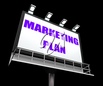Marketing Plan Sign Referring to Financial and Sales Objectives