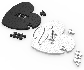 Two 3D Puzzle Shows Past Relations And Missing Partners