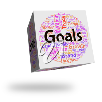 Goals Word Showing Wordcloud Strategy And Mission