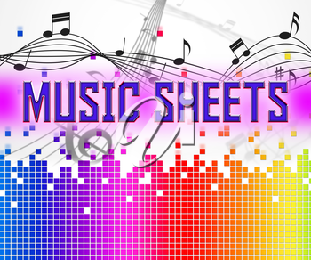 Sheet Music Representing Sound Track And Melodies