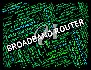 Broadband Router Representing World Wide Web And Computer Network