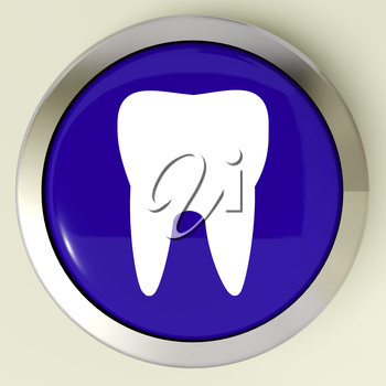 Tooth Button Meaning Dental Appointment Or Teeth