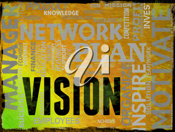 Vision Words Representing Aspire Objectives And Plans